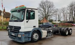 MERCEDES ACTROS 2536 6X2 CHASSIS CAB,AIR CONDITIONING